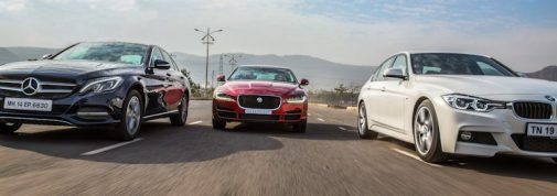 Jaguar XE Mercedes C-Class BMW 3 Series