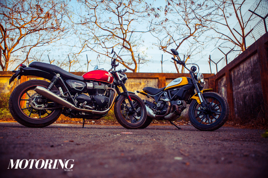Triumph Bonneville Street Twin Ducati Scrambler Icon (21)