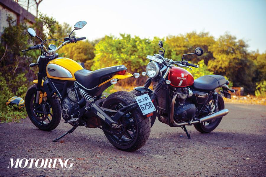 Triumph Bonneville Street Twin Ducati Scrambler Icon (22)